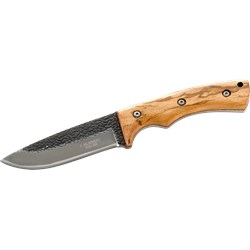 AISI-420 Steel Knife, Zebra Wood