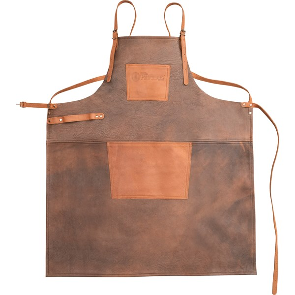 Buff Leather Apron with Cross Back Straps
