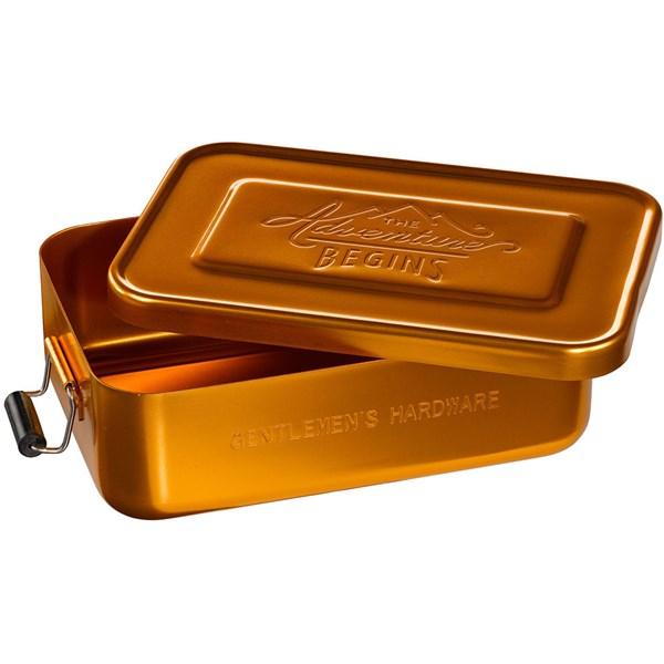 Adventure Begins Gold Lunch Tin