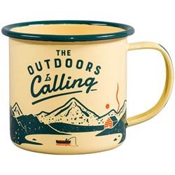 Outdoors is Calling Enamel Mug