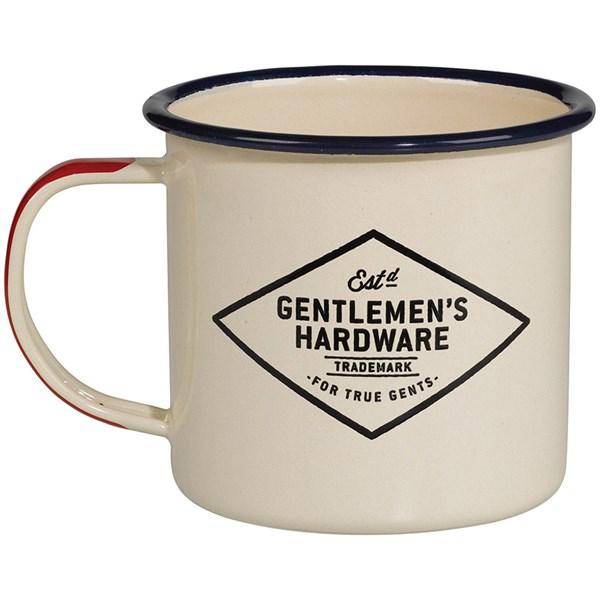 Adventure Begins Cream Enamel Mug