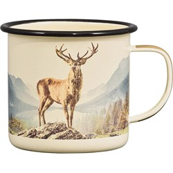 Great Outdoors Deer Enamel Mug