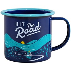 Hit the Road Navy Enamel Mug