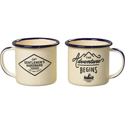 Espresso Cream Enamel Mugs, 2 pcs