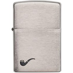 Pipe Brushed Chrome Lighter
