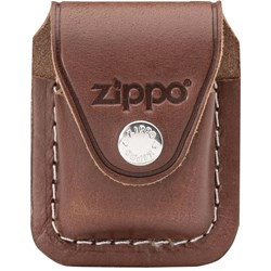 Brown Leather Lighter Pouch w/Clip