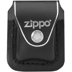 Black Leather Lighter Pouch w/Clip