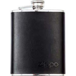 Leather Wrapped Hip Flask, 177 ml