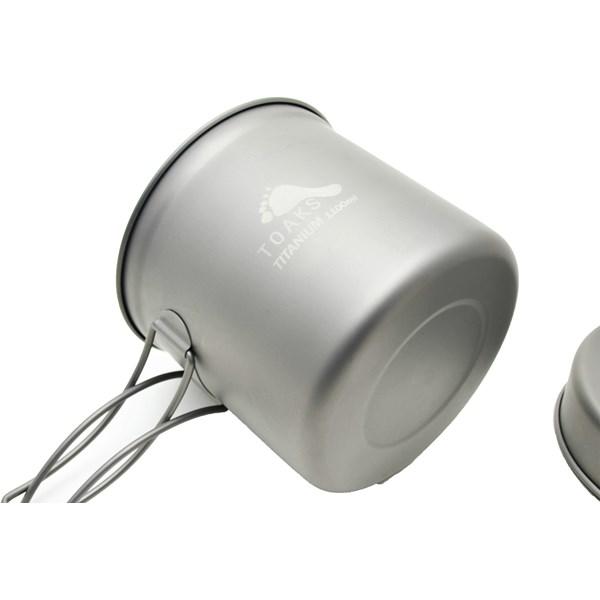 Titanium 1100 ml Pot with Pan