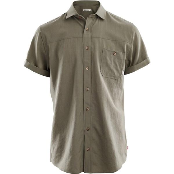 LeisureWool Woven Wool Short Sleeve Shirt