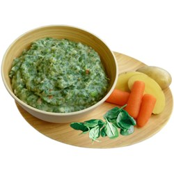 Spinach & Mashed Potatoes Vegetarian, double