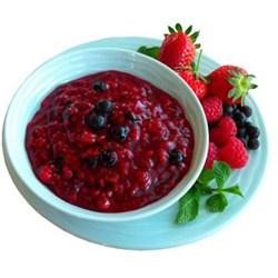 Red Fruit Jelly Dessert, single