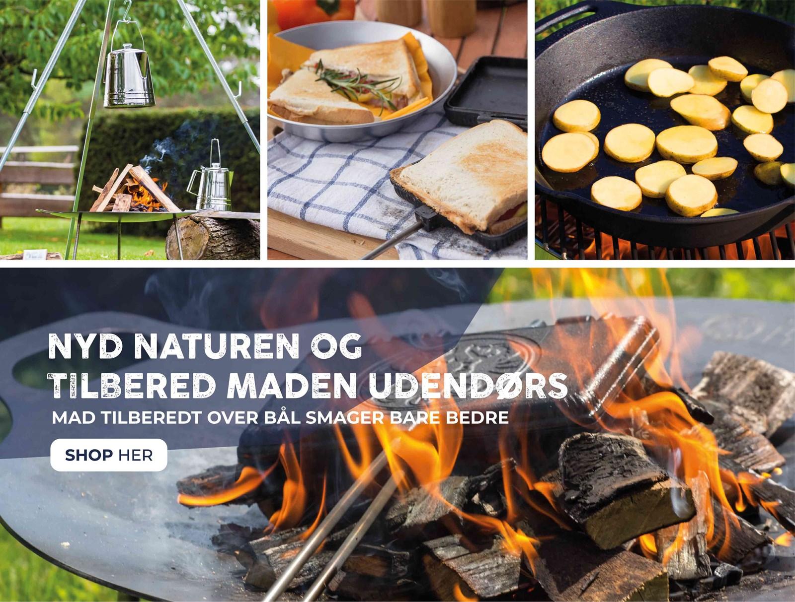 Nyd naturen og tilbered maden udendørs - Alt i båludstyr