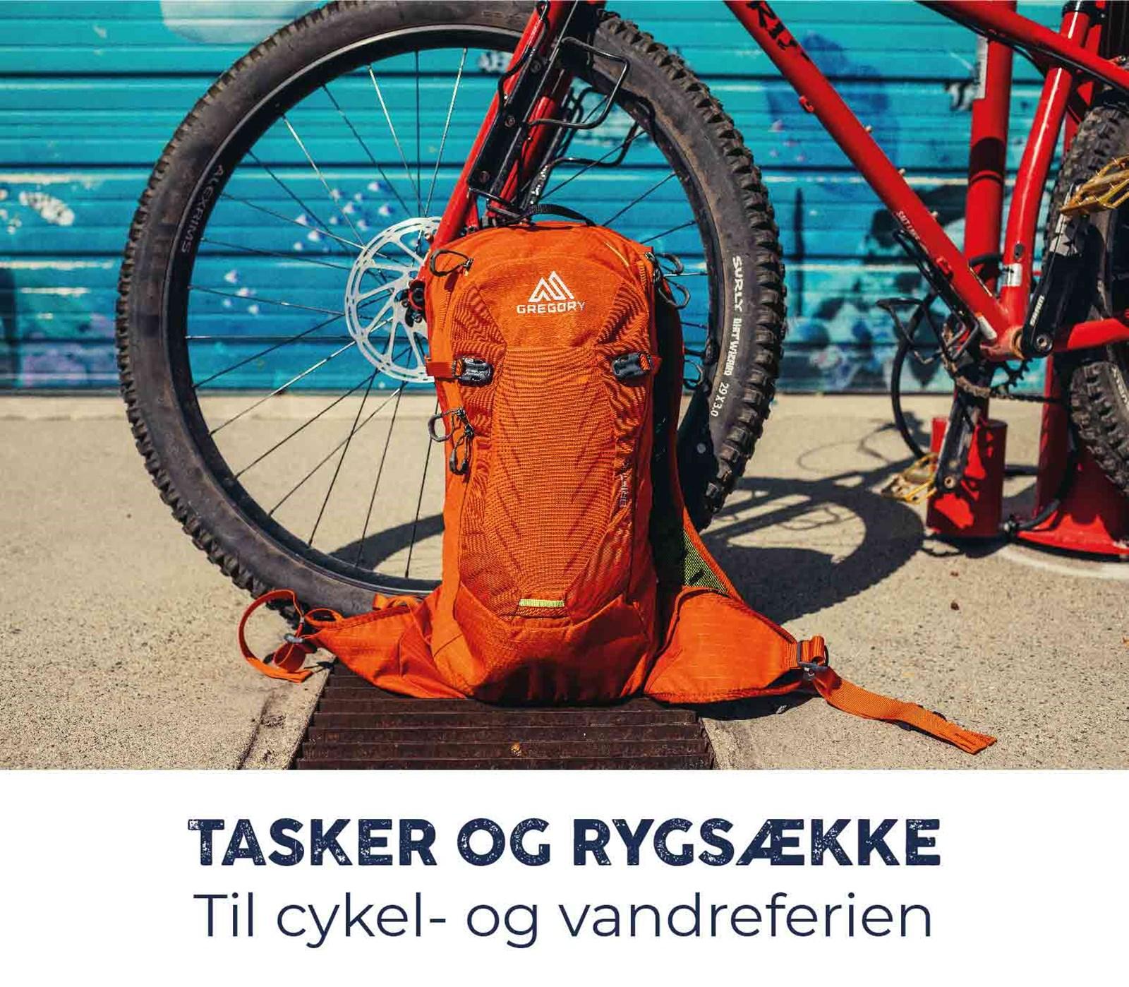 Tasker og rygsække til cykel- og vandreferien