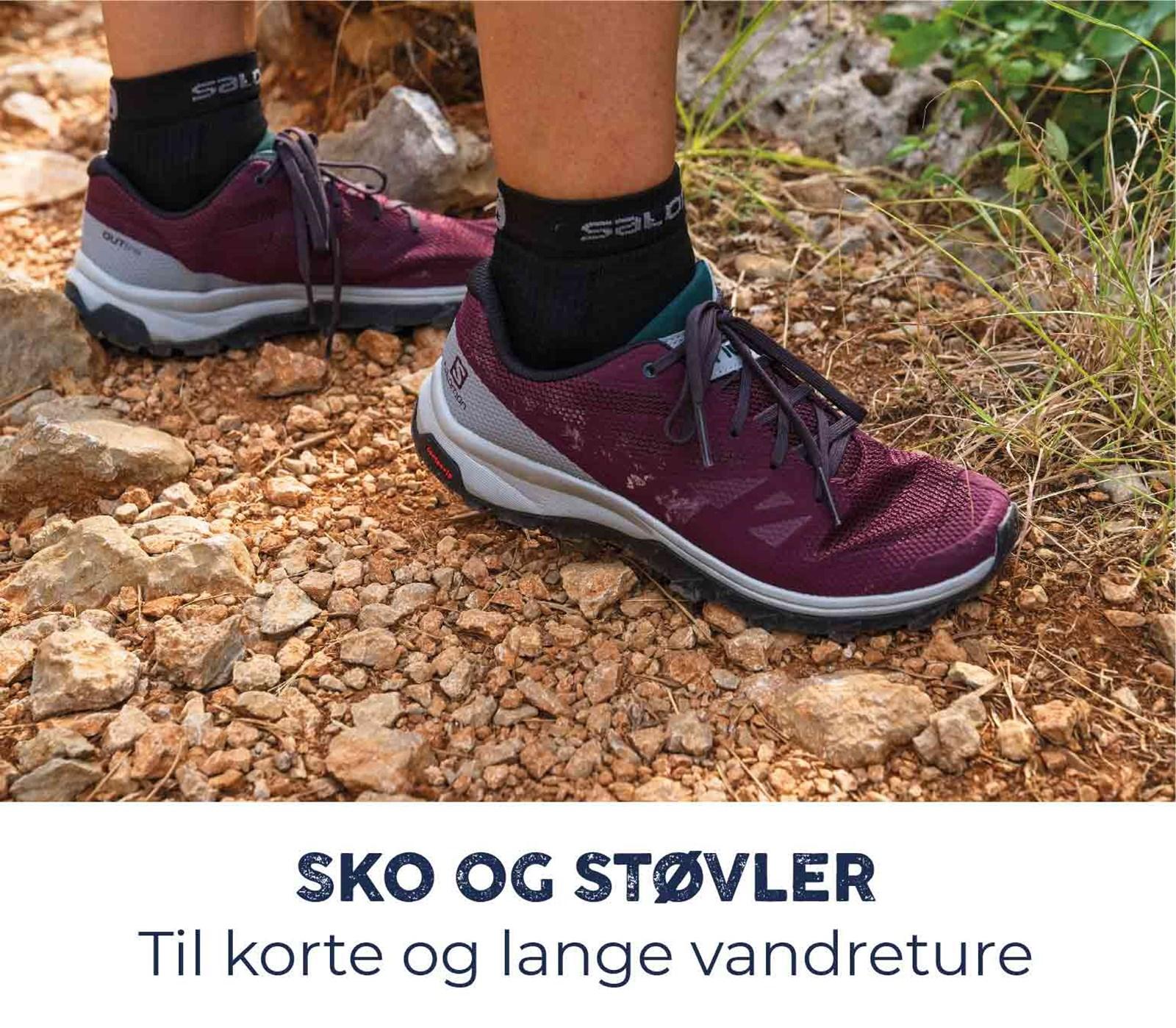 Sko og støvler til korte og lange vandreture